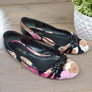Missoni Floral Ballet Velvet Flats Patent Leather